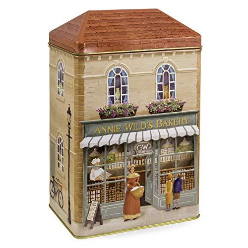 Grandma Wild's Lattina in Metallo Anne Wild's Cottage con Biscotti Assortiti all'Avena, Cioccolato & Arancia, Zenzero - 1 x 300 Grammi