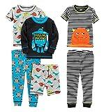 Simple Joys by Carter's Boys' Little Kid 6-Piece Snug Fit Cotton Pajama Set, Monster/Dino, 5