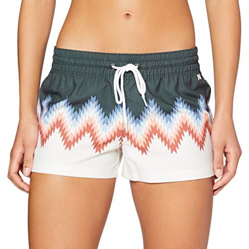 Hurley Womens W Supersuede Playa Volley Board Shorts, Vintage Green/(Light Bone), S