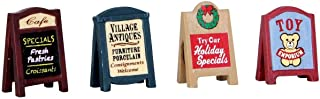 Lemax Village Sidewalk Signs, Set of 4