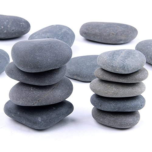 Skullis Black Rocks for Painting Kindness Rocks Crafting Party Pack Bundle River Stones for Painting Crafts – Natural Smooth Surface Rock Painting Arts(5pcs 1-2inch,5pcs 2-3inch,5pcs 3-4inch)