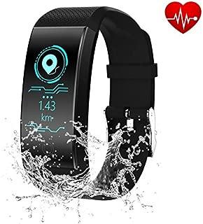 Rainboworld Fitness Tracker,Smart Bracelet HD Color Display Activity Tracker IP67 Water Resistant Smart Watch Heart Rate Blood Pressure Monitor Bluetooth Smart Pedometer Wristband Bracelet