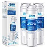 GOLDEN ICEPURE UKF8001 Refrigerator Water Filter Compatible with KENMORE 469006, 469992,UKF8001P, AMANA UKF8001AXX, AQUA FRESH WF295, SWIFT GREEN SGF-M10 (3 Packs)