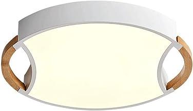 -C Creatieve geometrische plafondlamp, moderne woonkamer massief houten persoonlijkheidslamp, eenvoudige LED-plafondlamp m...