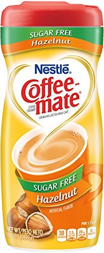 COFFEE MATE Sugar Free Hazelnut Powder Coffee Creamer 10.2 oz. Canister - PACK OF 30