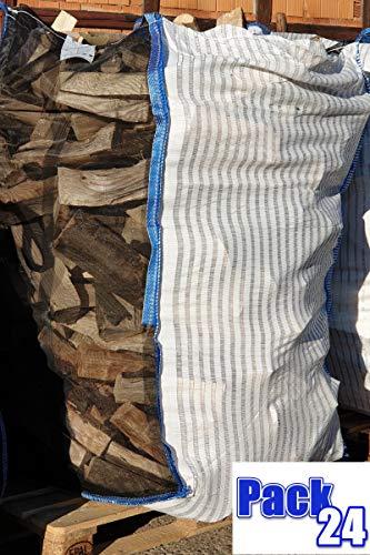 5 Stück Professioneller BigBag für Brennholz Kaminholz Holzbag Woodbag Brennholzsack Netz Big Bag 100 * 100 * 120cm