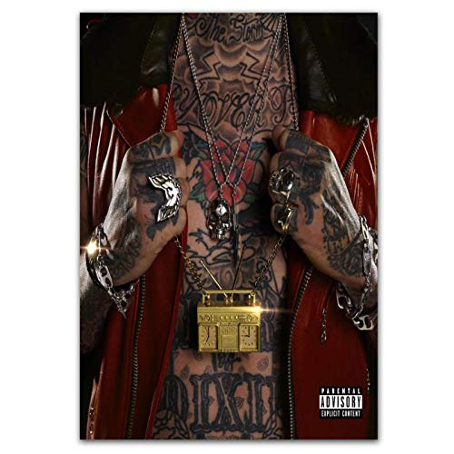 Wxueh Yelawolf Trunk Muzik 3 Cover Rap Music 2019 Álbum Posters E Impresiones Lienzo Arte De La Pared Pintura Imágenes Para La Decoración Del Hogar -50X70Cmx1Pcs-Sin Marco