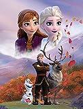 Große Frozen 2 Die Eiskönigin Sky Kuscheldecke 130 x 170 cm super weiche Wohndecke Fleecedecke Sofadecke Anna ELSA Disney Sven Olaf Kristoff Arendelle Völlig unverfroren Pass. zur Kinderbettwäsche