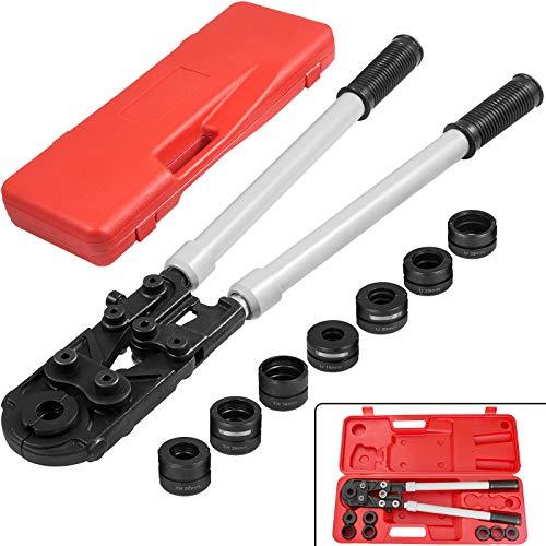Mophorn Alicates para prensar Alicates para prensar tubos U Contorno TH para tubo compuesto de cobre PEX U16-32 TH16-32