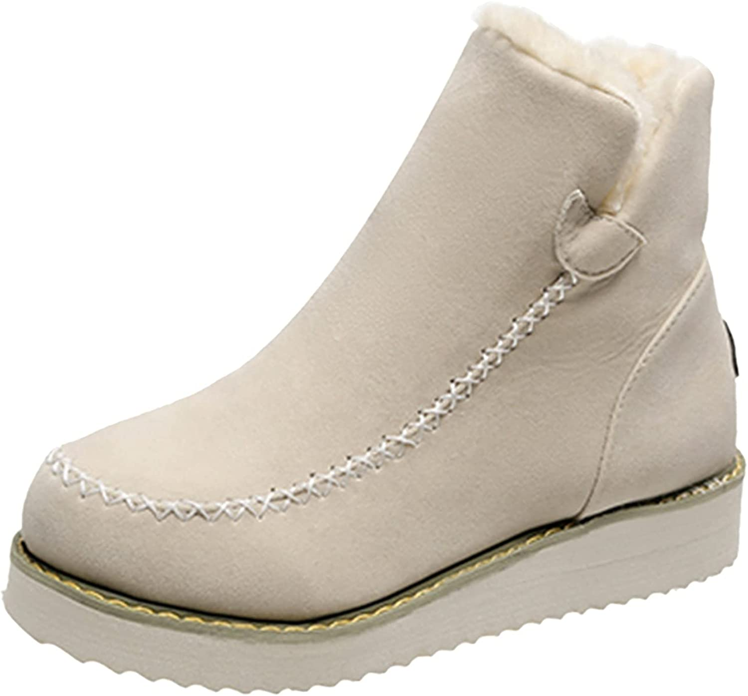 Euone_Clothes Boots for Women, Women's Shoes Round Toe Elastic M