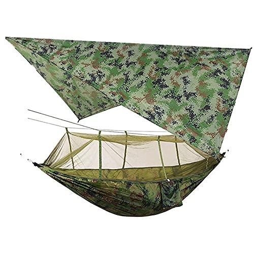 ZJSXIA Camping al Aire Libre Impermeable Anti-Mosquito Hamaca Skin Pantalla Pantalla Hamaca Aerial Swing Hamaca Dos Personas 260 * 140 cm-Negro Hamaca Colgante (Color : Black)