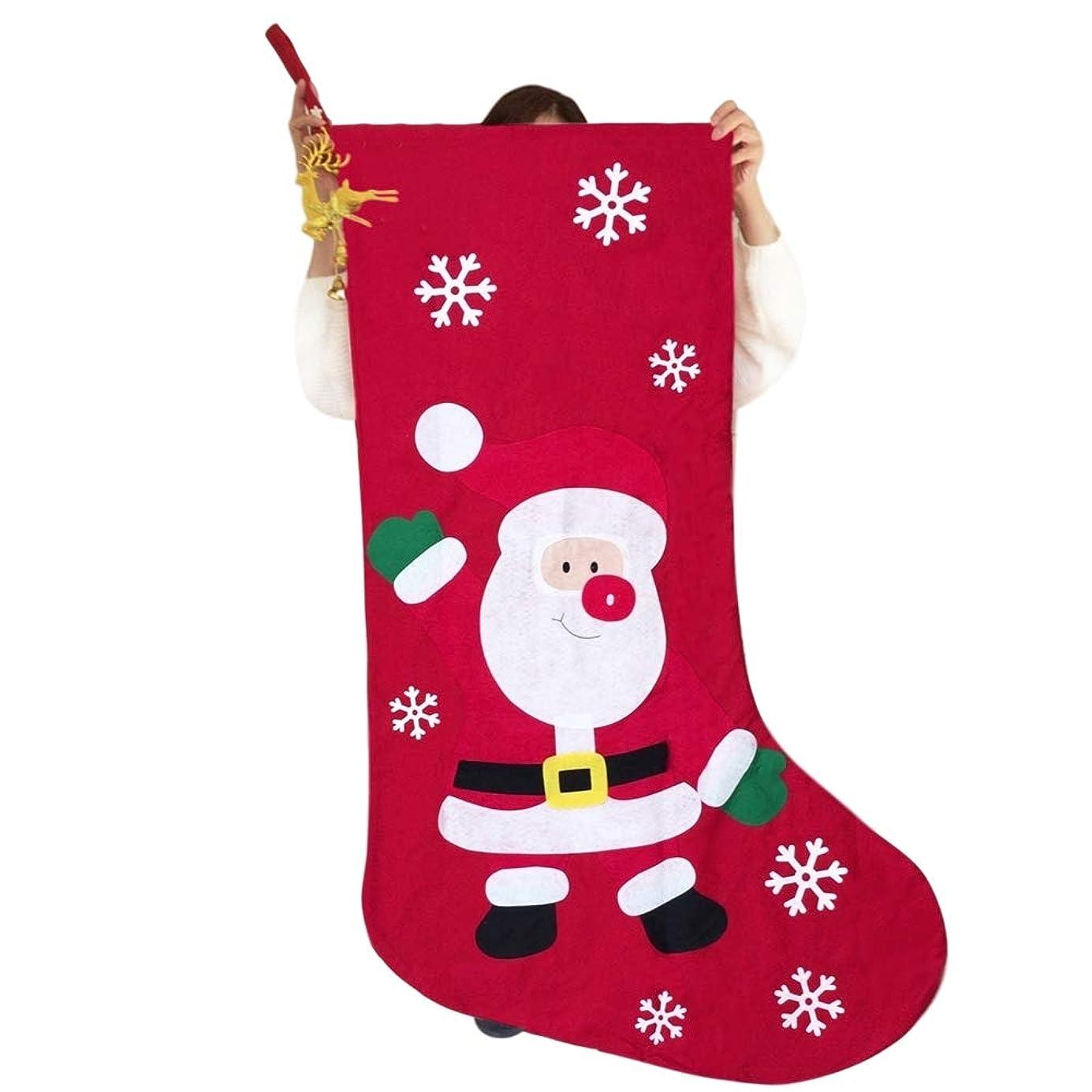 前文読みやすい環境全長136cm 幅78cm 子供 がすっぽり入る 超特大 クリスマス プレゼント 用 ワンポイントスーマーク 靴下 持ち手オーナメント LEDバッジ 保管用遮光防水 バッグ セット <全長136cm 1点>