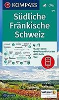 KOMPASS Wanderkarte Suedliche Fraenkische Schweiz 1:50 000: 4in1 Wanderkarte 1:50000 mit Aktiv Guide und Detailkarten inklusive Karte zur offline Verwendung in der KOMPASS-App. Fahrradfahren.