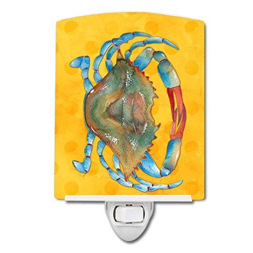 Caroline's Treasures BB8247CNL - Lámpara de noche (cerámica, 6 x 4 x 3 cm), diseño de cangrejo amarillo, multicolor