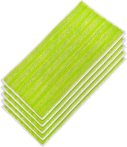 5 PCS Lingettes Reutilisable pour WetJet Wood, Lingette Vert pour Parquet WetJet Balai Spray