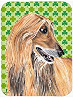 Caroline's Treasures SC9502MP Afghan Hound St. Patrick's Day Shamrock Mouse Pad, Hot Pad or Trivet, Large, Multicolor [並行輸入品]