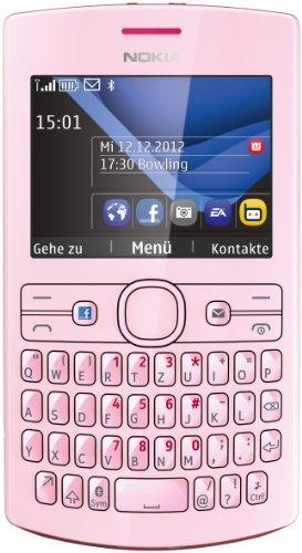 Nokia Asha 205 Smartphone, Display da 6.1 cm (2.4 Pollici), Tastiera QWERTY, Fotocamera 0.3 Megapixel, Colore Fucsia/Rosa Chiaro [Importato da Germania]