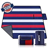 Outdoor Waterproof Picnic Blanket, Extra Large 79' X 79' 3-Layer Thickening Foldable Sand Free Beach Camping Blankets...