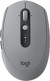 Logitech 罗技 M590 多设备静音无线鼠标 蓝牙鼠标 静音鼠标 蓝牙、优联 砂岩灰