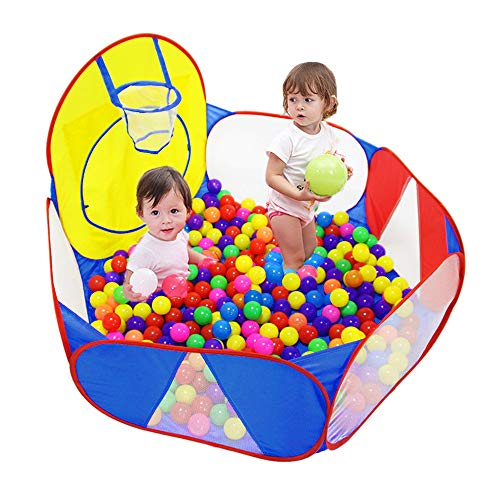 Eocolz Kids Ball Pit Large Pop Up Childrens Ball Pits Tent for Toddlers Playhouse Baby...