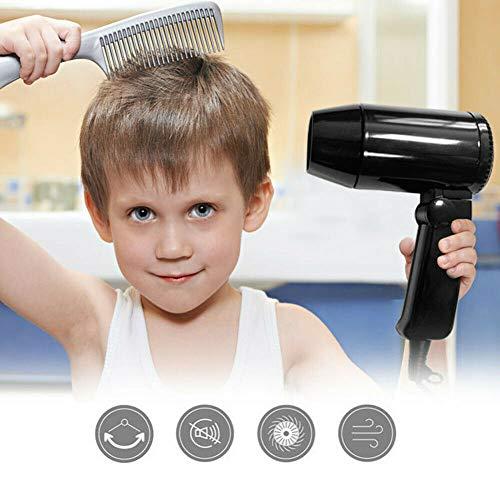 Secador de pelo portátil de 12 V para coche caliente y frío, con mango plegable, ideal para vacaciones y viajes