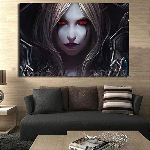 wtnhz Spieltapete Kunst Leinwand Poster Wandbild Druck Schlafzimmer Schlafzimmer Dekoration Kein Rahmen