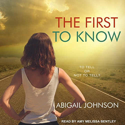 The First to Know audiobook cover art
