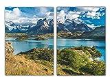 POSTORO 2er-Set Blue Lake Chile Poster DIN A3 ohne
