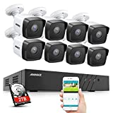 ANNKE H500 8CH 5MP H.265 PoE NVR Security Camera System, 8X 5MP IP Outdoor Security IP67 W...