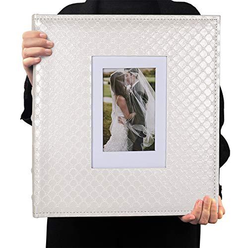 RECUTMS Photo Album 4x6 Holds 600 Photos Button Grain Larger Capacity...