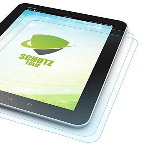 Wigento 2X Bildschirmschutzfolie Folie für Samsung Galaxy TabPro S 12 Zoll W700 W708 LCD Zubehör + Poliertuch Screen Protector