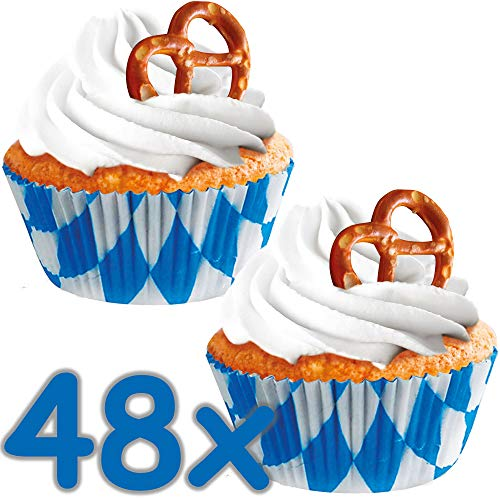 Amscan Muffin- und Cupcake-Förmchen Oktoberfest Gaudi 48er Pack