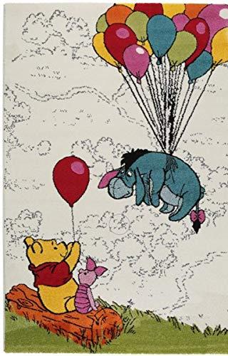 Teppich für Kinderzimmer - Disney Winnie the Pooh - Größen in cm: 67 x 140-80 x 150-100 x 150-120 x 170 - Kurzflor 13 mm. (100x150 cm)
