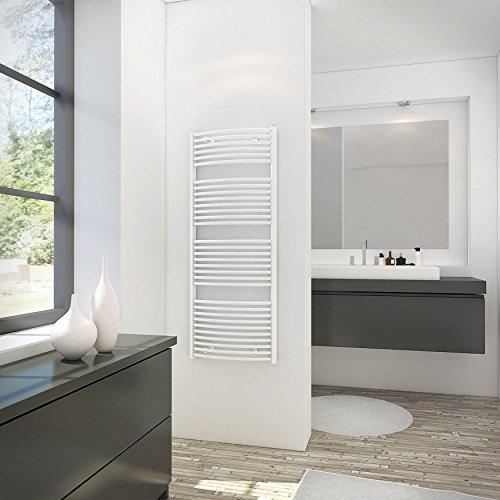 Schulte H281135 04 Sèche-serviette pour salle de bain, radiateur à eau chaude, env. 600 W, blanc, 60 x 114 cm