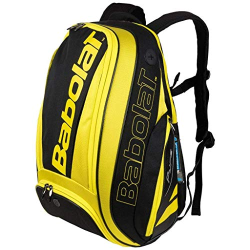 Babolat 2018 Pure Series Quality Backpack - choice of colors (Aero Black/Yellow)