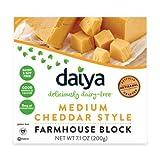 Daiya Bloque de Queso Vegano Estilo Cheddar 200g | Sin lactosa | Sin Gluten | Vegano | Sin Soja (Pack de 4)
