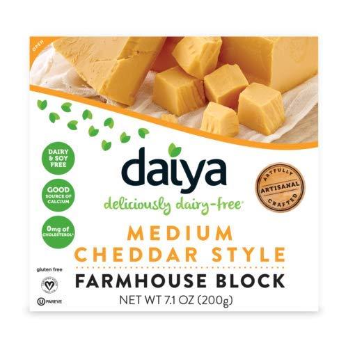 Daiya Bloque de Queso Vegano Estilo Cheddar 200g   Sin lactosa   Sin Gluten   Vegano   Sin Soja (Pack de 2)