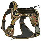 CBBPET Tactical Dog Harness for Large Medium Dogs No Pull& Sturdy Handle,Breathable Reflective Military Dog Harness for Training Walking Hunting,Neck:20- 28,Chest : 24-35