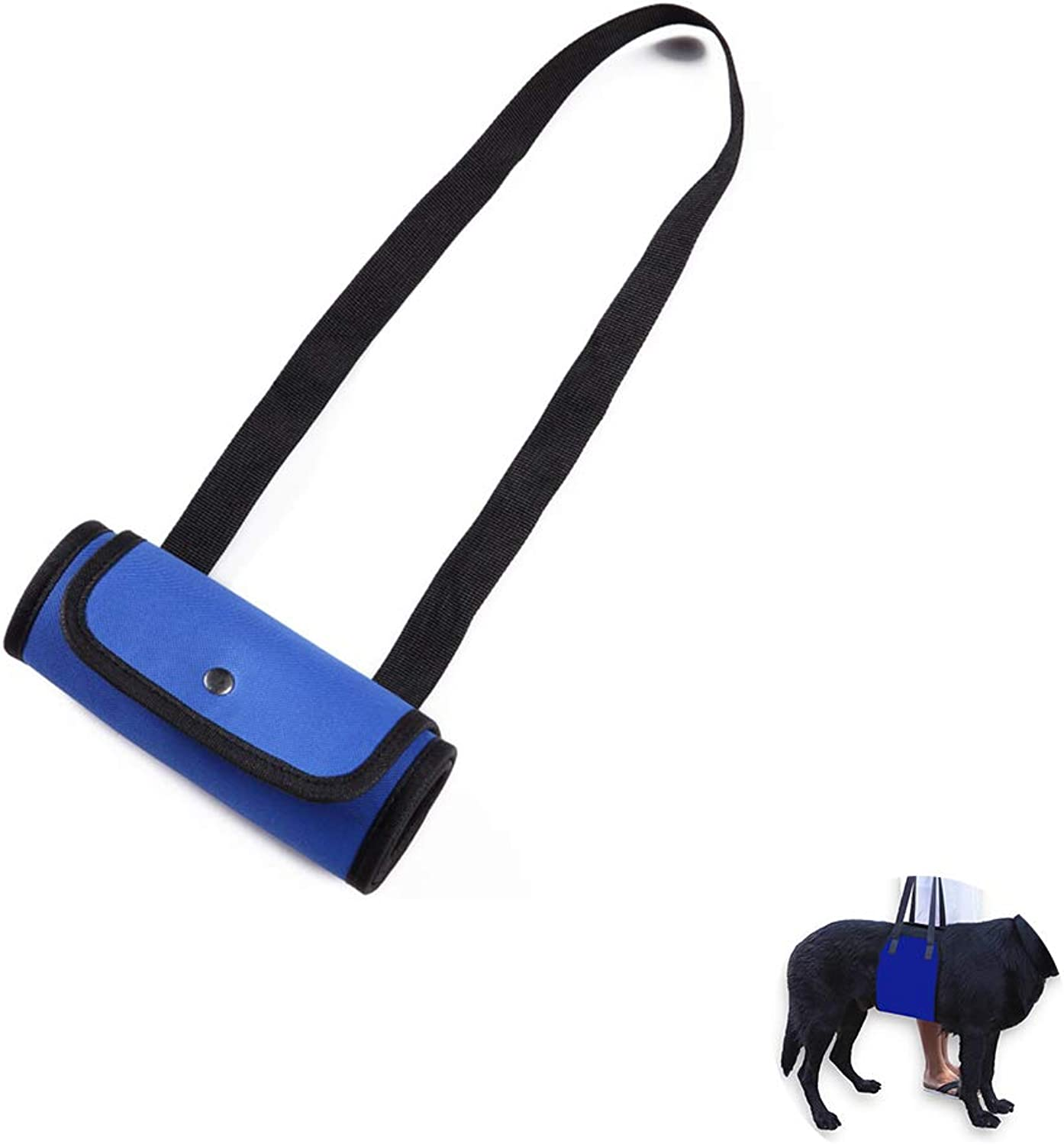 Dog Lifting Harness, Dog Lift Canines Aid Assist Sling for Disabled, Injured, Elderly Pets Dogs, Help with Mobility to Stand Up, Climb Stairs and More(bluee),L