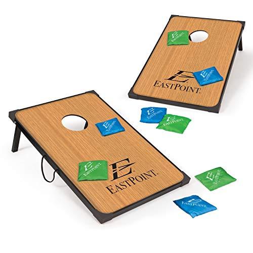 EastPoint Sports Corn Hole Outdoor Game - MDF 3' L x 2' W Portable Bean Bag Toss Set - Includes 8 Cornhole Beanbags