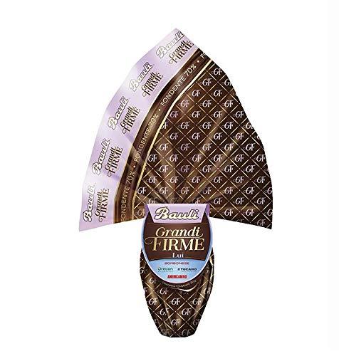 Uovo di Cioccolato per LUI Grandi Firme LA MARTINA e RONCATO 500gr. Bauli (Cioccolato fondente)