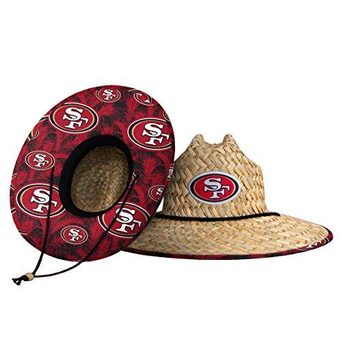 San Francisco 49ers NFL Floral Straw Hat