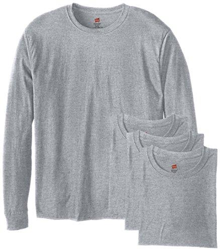 Hanes Men's 4 Pack Long Sleeve Comfortsoft T-Shirt, Light ST-Shirtl, XX-Large