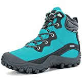 XPETI Women's Dimo Mid Waterproof Hiking Walking Hunting Anti-Slip Outdoor Boot Blue 9