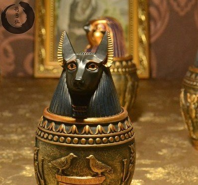 Egipcio canopos tarros ciudad casa hogar accesorios adornos hogar accesorios habitaciones Escape Knick adorno botes