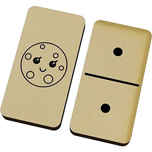 Azeeda 'Glücklicher Keks' Domino-Spiel und Box (DM00017555)