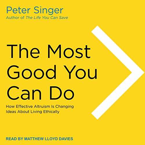 The Most Good You Can Do audiobook cover art