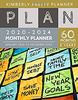 5 year Monthly Planner 2020-2024: personal calendar planner 5 year | Monthly Schedule Organizer - Agenda Planner For The Next Five Years, 60 Months ... Notebook Large Size | Post it plan design