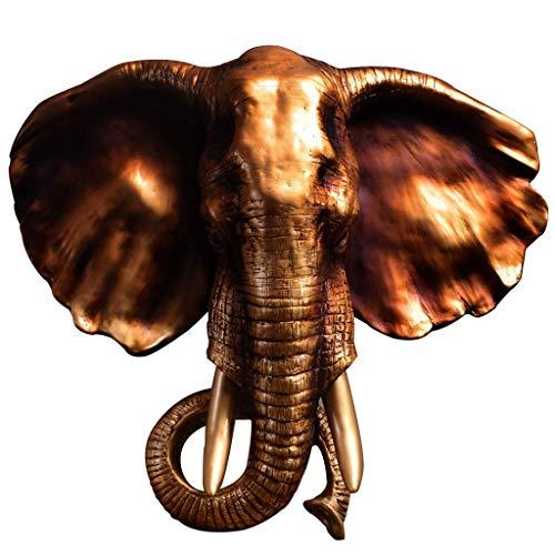 TOPNIU Home Wall Mount Grabing Head Sculpture Lucky Lucky Elephant Head Statue, Decoration, Creative? Bar Bar, Fondo del Club Colgante de Animales, Guía colgada Muro de Estilo Europeo (Color: Blanco,
