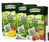 8261 BIG-ACTIVE Té verde expreso con la adición de maracuyá, mango, bergamota, HERBAPOL, 3 x 20 sobres x 1,5 g, refresca la mente, favorece la digestión, favorece la pérdida de peso